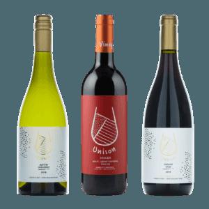 Unison wines 3 bottles mixed case