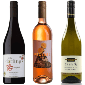 organic new zealand wines mixed 3 bottles