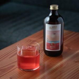 Clipper Rhubarb Negroni cocktail
