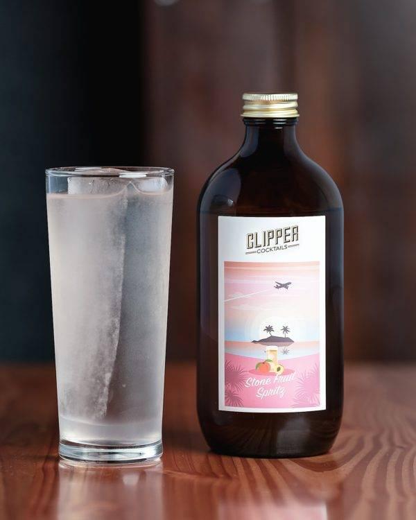 Stone Fruit Spritz Clipper Cocktail